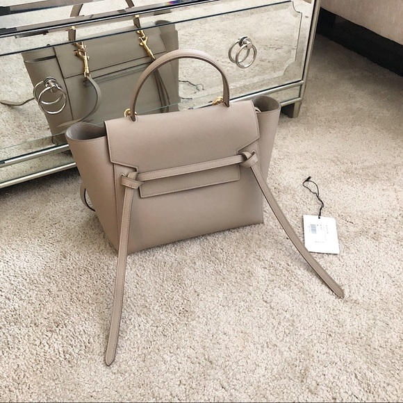 CELINE Mini Belt Bag Light Taupe Grained Calfskin e67a4759ceea7
